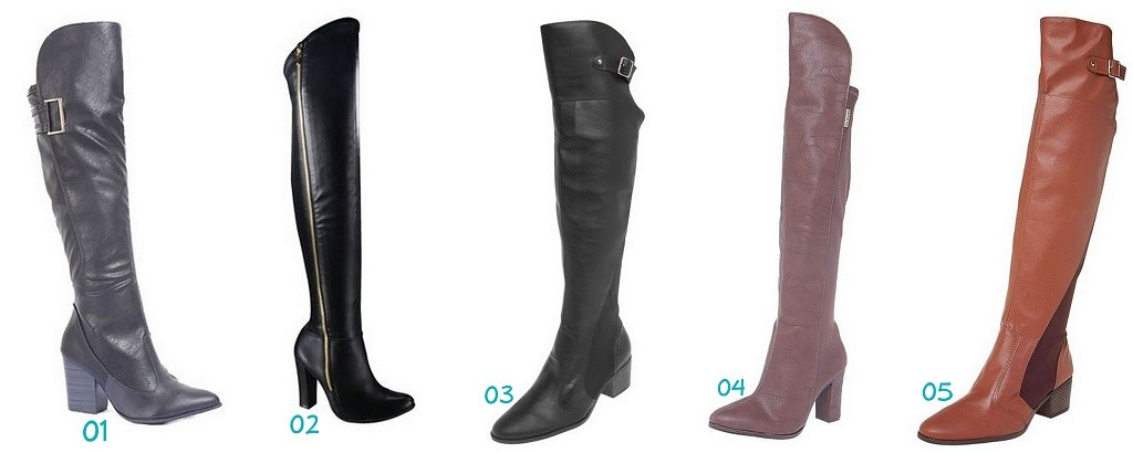 botas over knee tendencia 2016
